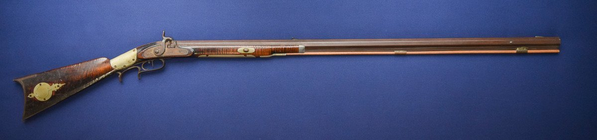 A.P. McDermit Mason Co. West VA. Half Stock Percussion Rifle