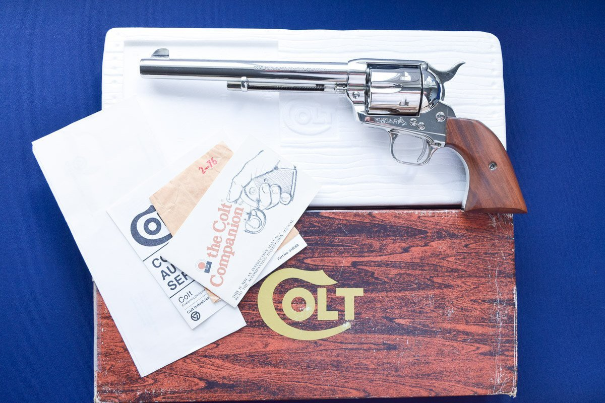 Colt SAA 3rd Gen 44 Special Nickel, Model P1776